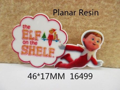 5 X 46MM ELF ON A SHELF XMAS CHRISTMAS LASER CUT FLAT BACK RESIN HEADBANDS HAIR BOWS